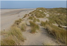 SJ1285 : Sand dunes and Talacre Beach by Mat Fascione