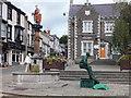 SH7877 : Green man - street entertainer by Richard Hoare