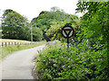 SE2138 : Old road sign near Rawdon by Stephen Craven