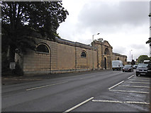 TL8663 : The facade of the old Bury St. Edmunds jail, Sicklesmere Road by Adrian S Pye