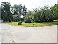 TF8505 : Landscaped area beside entrance to Dalacres by David Pashley