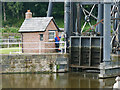 SJ6475 : Anderton boat lift - lifting the sluice gate by Stephen Craven