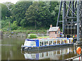 SJ6475 : Anderton boat lift - pleasure boat by Stephen Craven