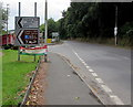 SN3040 : Bilingual direction signs alongside the A484, Newcastle Emlyn by Jaggery