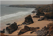 SW8469 : Bedruthan Steps by John Baker