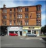 NS5565 : Tenements with shops, Govan Road by Richard Sutcliffe