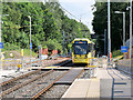 SD8402 : Metrolink Tram arriving at Crumpsall by David Dixon