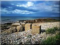 NJ2270 : Coastal defences, Lossiemouth by Euan Nelson