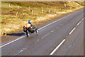 HU4252 : Tricycle on the A970 near to Girlsta by David Dixon