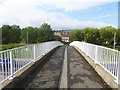 NZ2361 : Footbridge over the A1 by Oliver Dixon