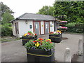 ST3390 : Caerleon in Bloom flower tubs near the former High Street public toilets, Caerleon by Jaggery