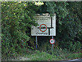 TM1659 : Roadsign on the A1120 Church Road by Geographer