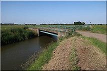 TF3516 : Coy Bridge over South Holland Main Drain by Hugh Venables