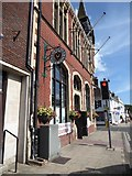SY9287 : Traffic light outside Wareham Town hall by Basher Eyre