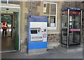 SS5532 : Ticket machine and phonebox at the entrance to Barnstaple railway station by Jaggery