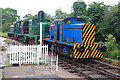 SJ9542 : Foxfield Railway - shunting some diesel engines by Chris Allen