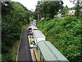 SO7375 : Former railway, now a caravan site by Philip Halling