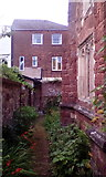 SX9192 : The south exterior wall of St Nicholas Priory, Exeter by David Smith