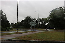 TM0557 : Roundabout on Gipping Way, Combs Ford by David Howard