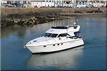 NW9954 : Boat approaching Inner Harbour, Portpatrick by Billy McCrorie