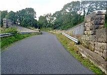 J0613 : Crash barriers on the OBB159 railway bridge at Plaster by Eric Jones