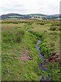 SN6964 : Tregaron Bog drainage channel near Swyddffynnon in Ceredigion by Roger  Kidd