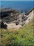 SX6642 : Thurlestone: rocks by Loam Castle by Martin Bodman