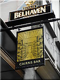 NS5965 : Sign for Cairns Bar by Richard Sutcliffe