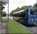 ST3094 : X24 bus, Llanfrechfa Way, Cwmbran by Jaggery