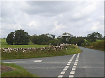 NY6417 : Road junction at Seat Hill by Stephen Craven