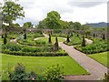 SN5822 : Upper walled garden at Aberglasney by Eirian Evans