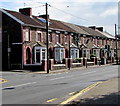 ST1888 : Row of stone houses, Newport Road, Trethomas by Jaggery