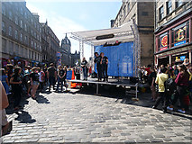 NT2573 : Edinburgh Fringe, Upper Stage on High Street by David Dixon
