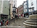 NZ2742 : The steps at the top of Elvet Bridge by Robert Graham
