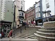 NZ2742 : The steps at the top of Elvet Bridge by Robert Graham