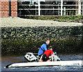 J3471 : Rower rescue, River Lagan, Belfast (August 2019) by Albert Bridge
