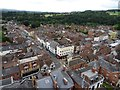 SO5174 : View from tower of St Lawrence's church, Ludlow by Philip Halling