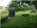 ST6990 : Millennium stones and a bench by Neil Owen