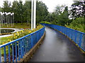 H4572 : Pathway with blue railings, Omagh by Kenneth  Allen