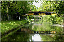 SJ9108 : Canal near Four Ashes in Staffordshire by Roger  Kidd