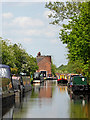 SJ9110 : Canal approaching Gailey Lock in Staffordshire by Roger  Kidd