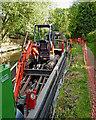 SJ9214 : Towpath repairs in Penkridge, Staffordshire by Roger  Kidd