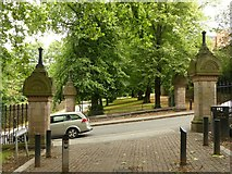 SK5640 : Entrances to Waterloo Promenade, Southey Street, Nottingham by Alan Murray-Rust