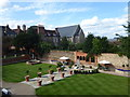 TQ7468 : Looking across the formal garden at Restoration House by Marathon