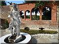 TQ7468 : Statue in the formal garden at Restoration House by Marathon