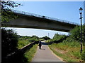 SS5433 : Taw Bridge over the South West Coast Path, Barnstaple by Jaggery