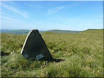 SJ1232 : The slate boundary stone again - Rhos Boundary Stone I by Richard Law