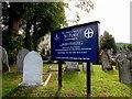 SO9419 : Information board, Parish Church of St Peter, Leckhampton by Jaggery