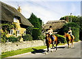 SU3287 : Race Horses, Kingston Lisle, Oxfordshire  2002 by Ray Bird