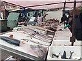 TQ3875 : Fish stall, Lewisham Market, southeast London by Robin Stott